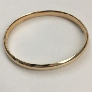 Mid-Century 14k Gold Bangle Bracelet Vintage